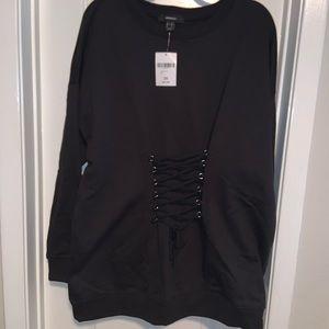 NWT lace up sweatshirt 🖤